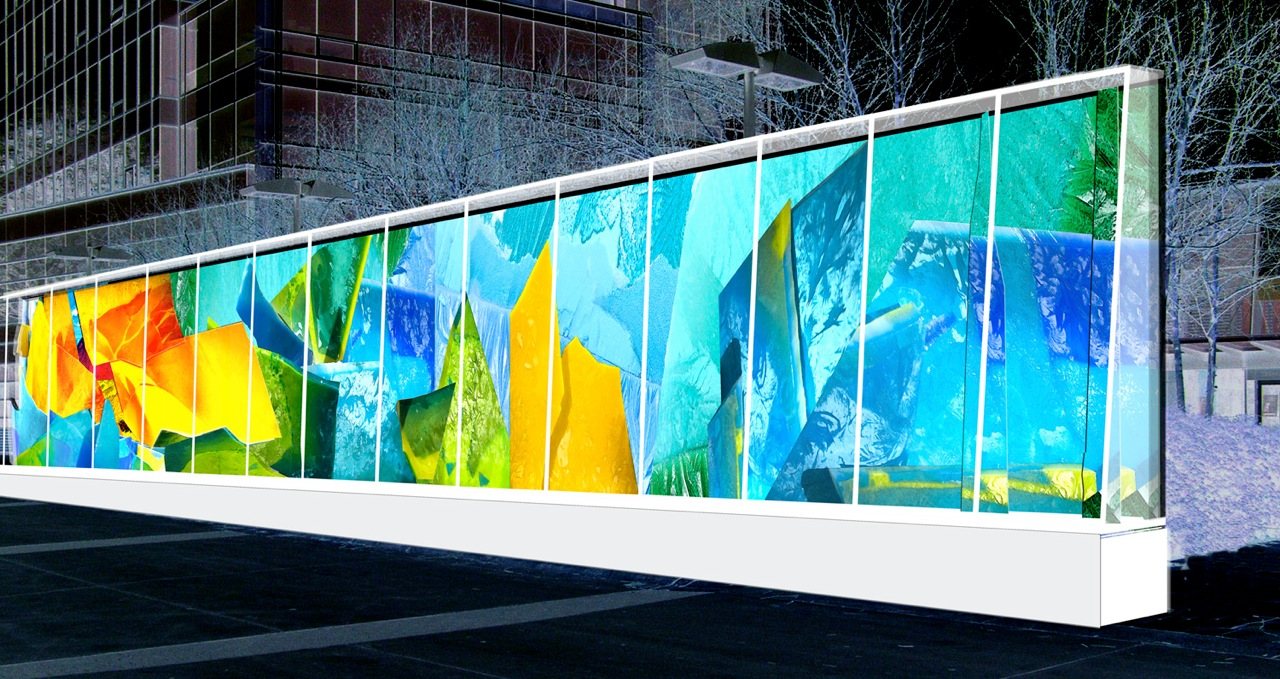 The 2010 Winter Olympic Ice Wall in Vancouver